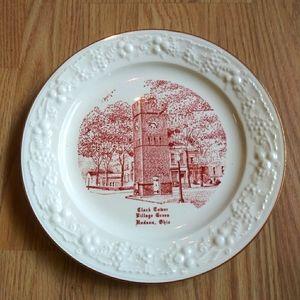 Commemorative Plate Clock Tower Hudson Ohio